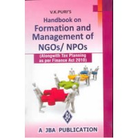 Handbook on Formation and Management of NGOs & NPOs