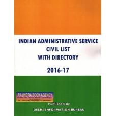 CIVIL LIST INDIAN ADMINISTRATIVE SERVICE (IAS)- 2016-17