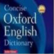 Oxford Concise Oxford Dictionary