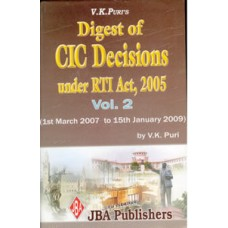 Digest of CIC Decisions under RTI Act (Vol.2  March 07 to 09)